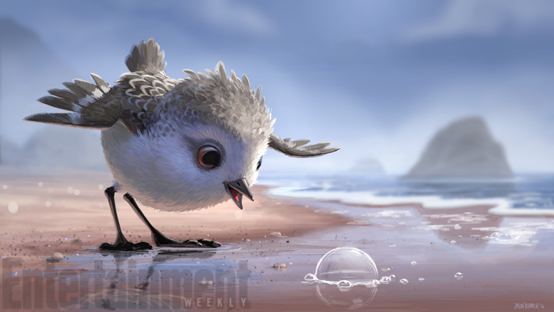 artwork piper disney pixar