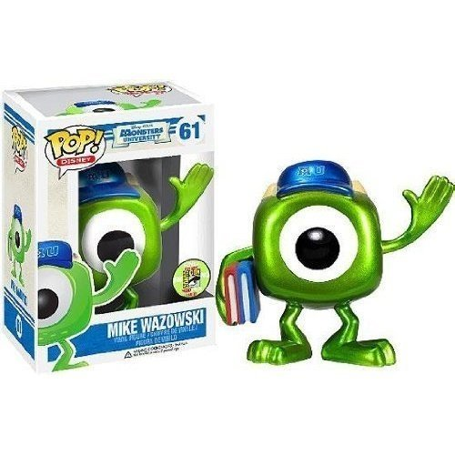 pixar disney funko pop monstres academy monsters university bob mike metal iron