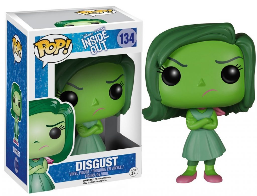 pixar disney funko pop vice versa inside out dégout disgust