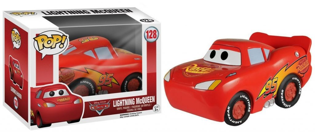 pixar disney funko pop cars flash mcqueen lightning mcqueen
