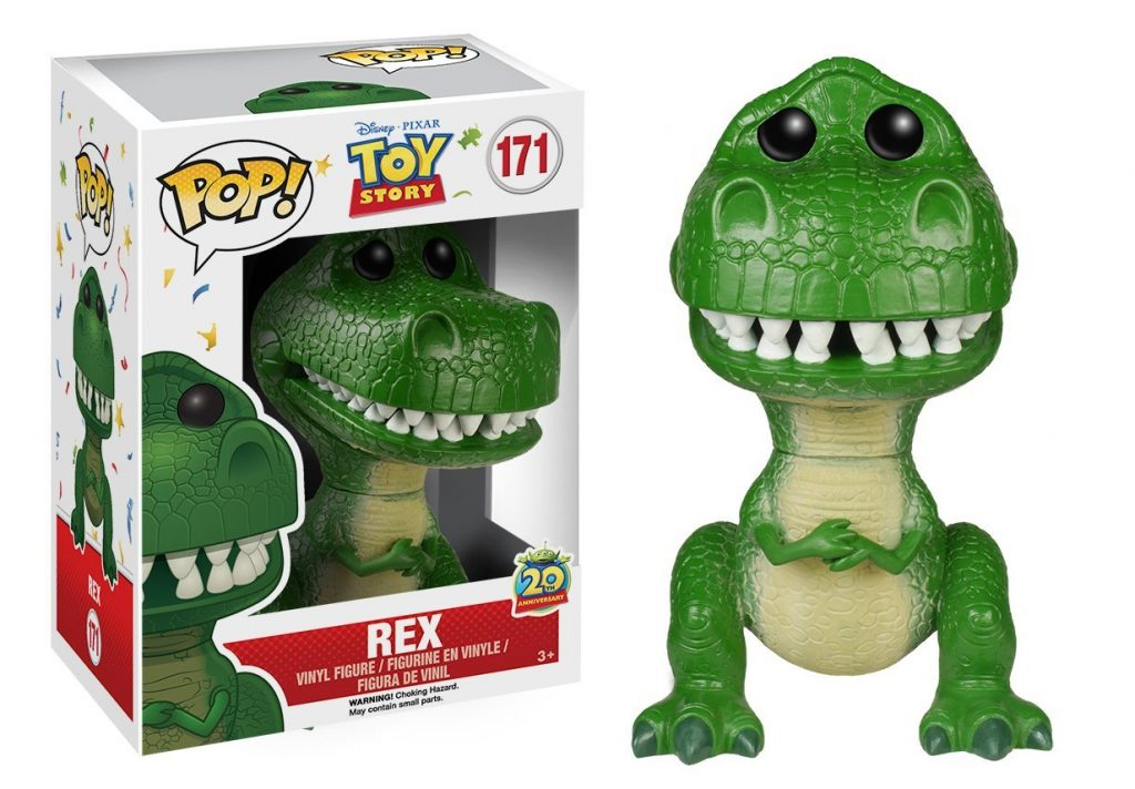 pixar disney funko pop toy story 20 ans 20th anniversary rex