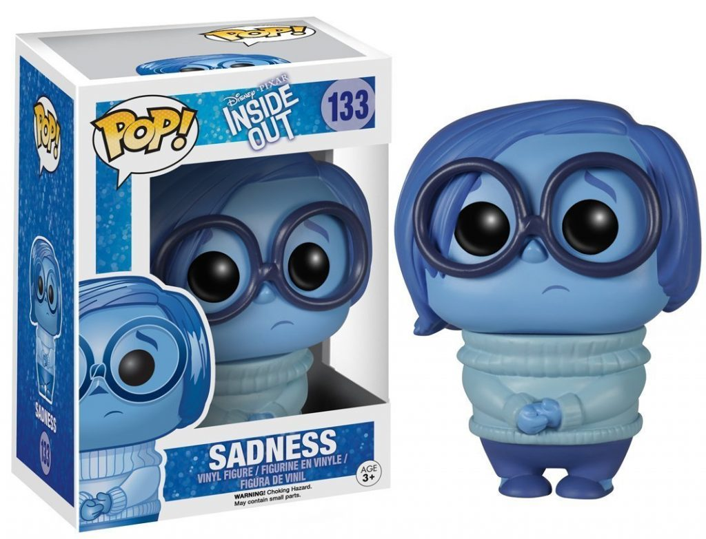 pixar disney funko pop vice versa inside out tristesse sadness