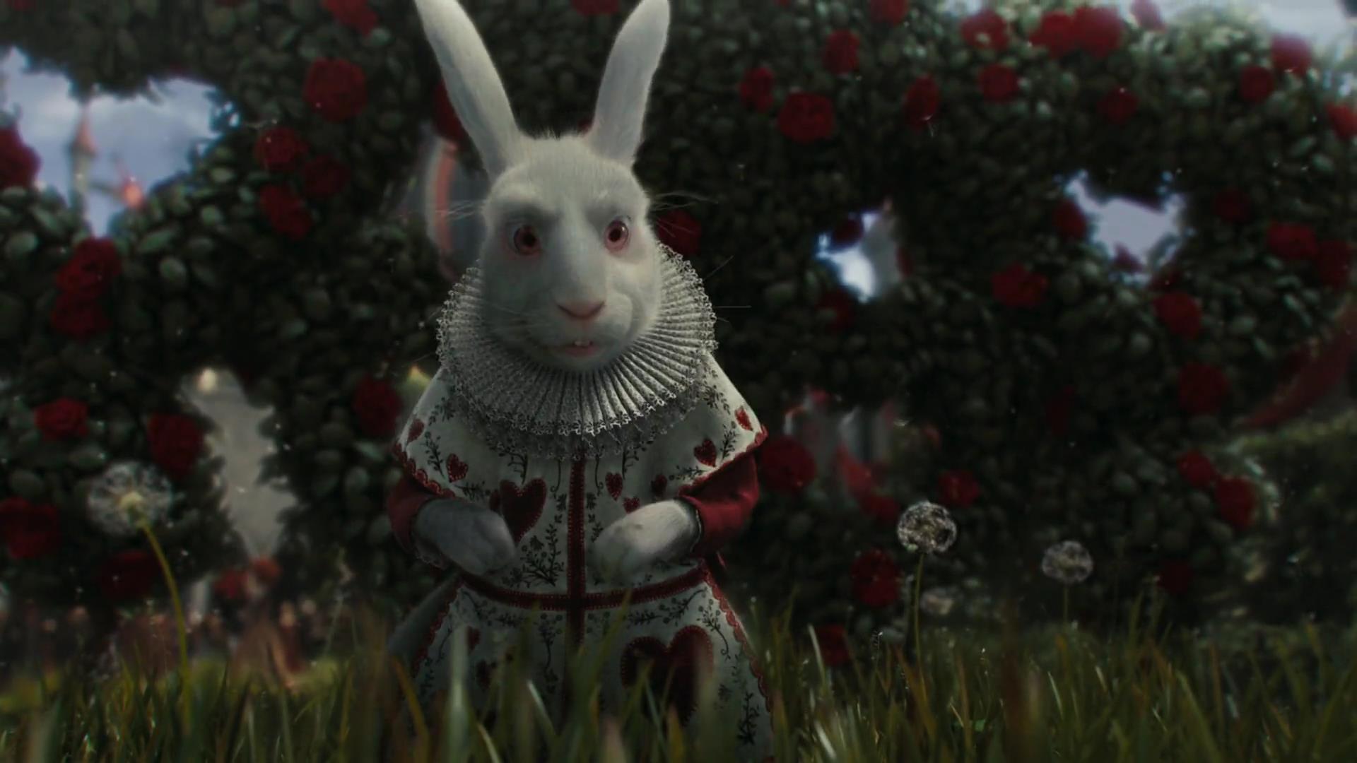 Le lapin blanc personnage dans alice au pays des merveilles film 2010 - Lapin d alice au pays des merveilles ...