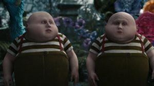 tweedledee tweedledum disney personnage character alice au pays des merveilles in wonderland