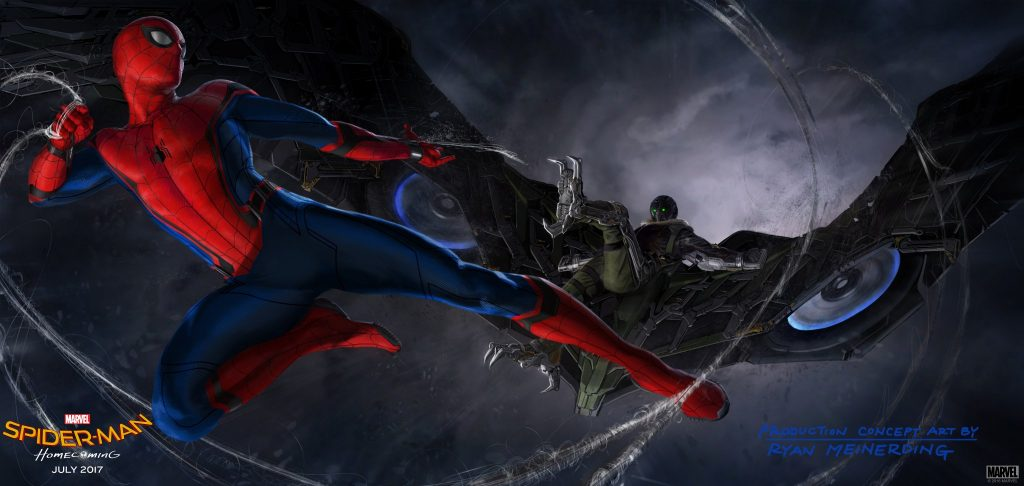 disney marvel studios spider-man homecoming artwork vulture
