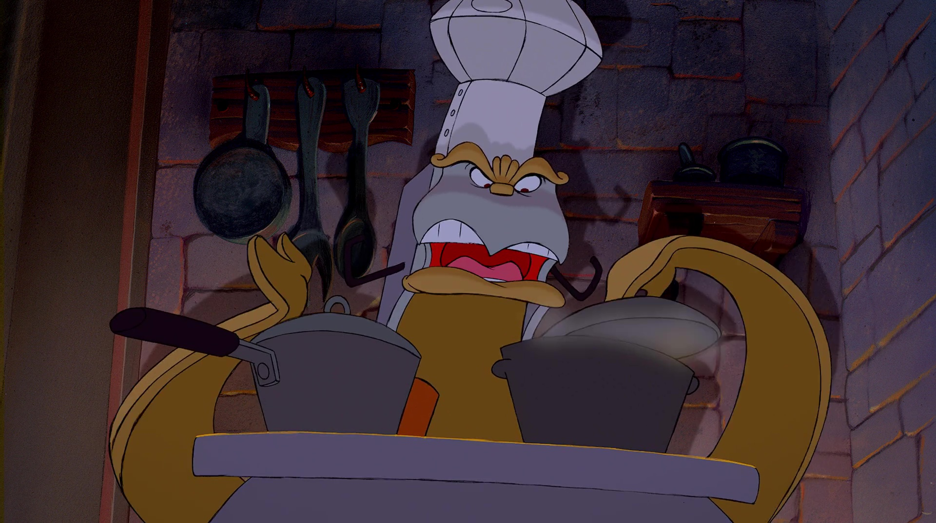 fourneau chef bouche stove personnage character disney la belle et la bête beauty and the beast