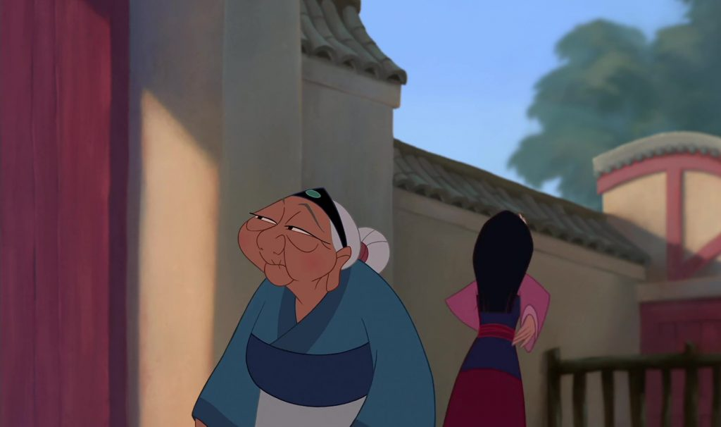 grand-mère fa grandmother disney personnage character mulan