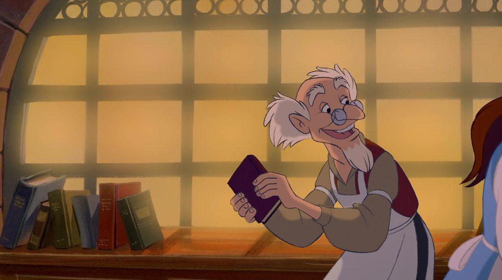 libraire Bookseller personnage character disney la belle et la bête beauty and the beast