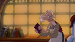 libraire Bookseller personnage character disney la belle et la bête beauty and the beast