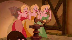 triplées bimbettes personnage character disney la belle et la bête beauty and the beast