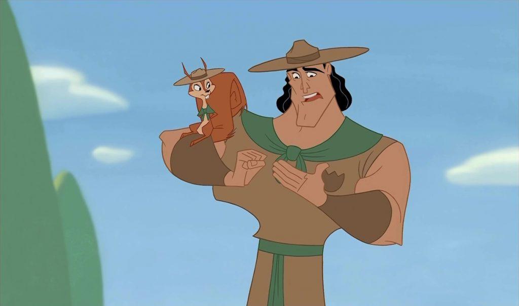 disney Bucky personnage dans kuzco l'empereur mégalo