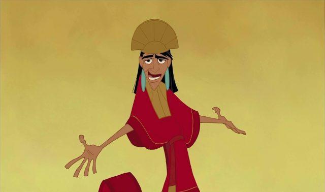 Disney kuzco personnage dans kuzco l'empereur mégalo