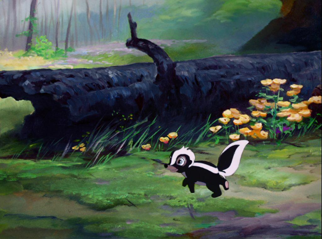 bambi mouffette shunk disney personnage character bambi