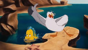 eurêka Scuttle disney personnage character animation la petite sirène the little mermaid