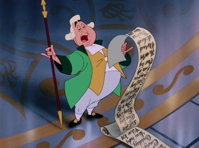 heraut herald disney personnage character cendrillon cinderella