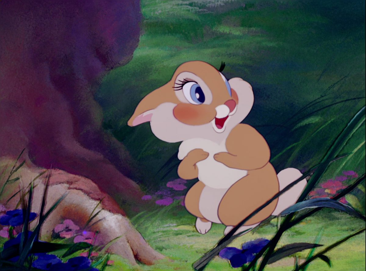 miss bunny disney personnage character bambi