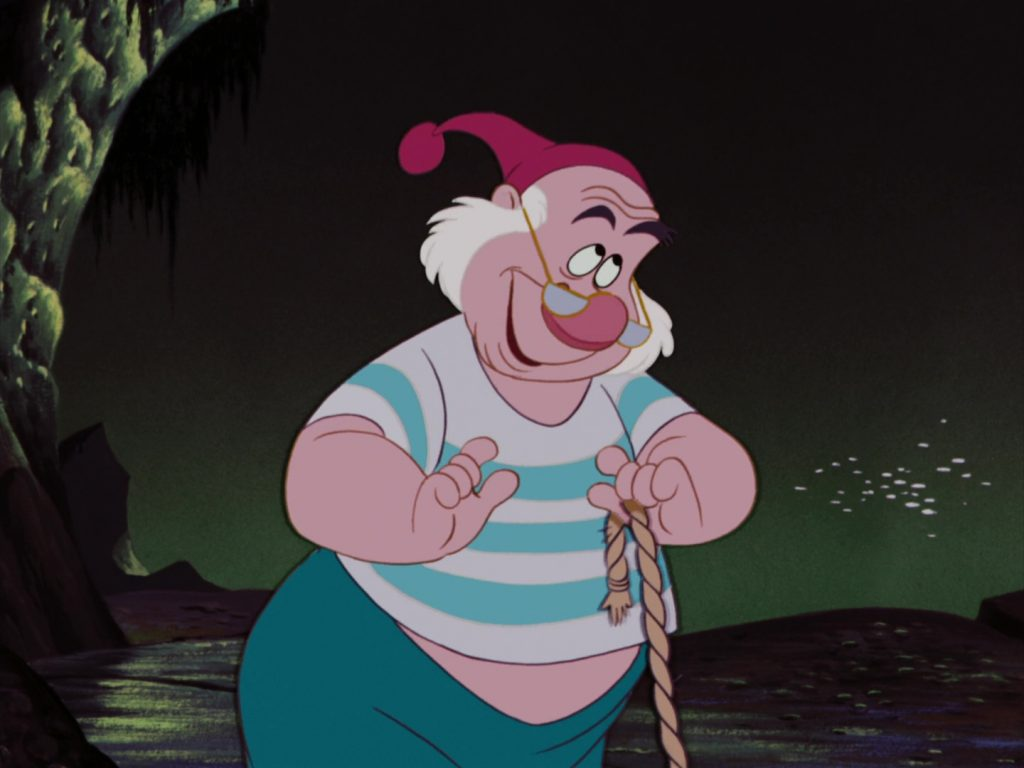 monsieur mouche smee disney animation personnage character peter pan