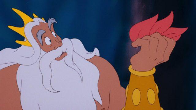 roi king triton disney personnage character animation la petite sirène the little mermaid