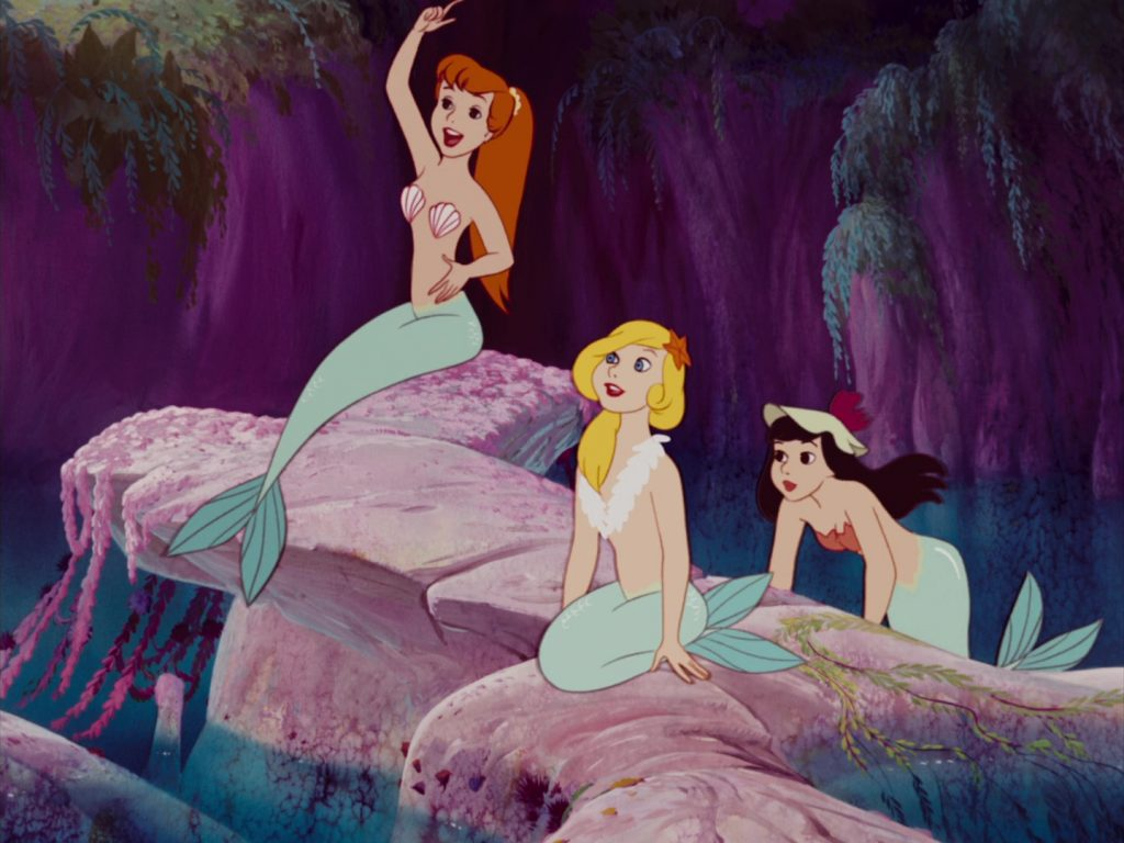 sirene mermaid disney animation personnage character peter pan