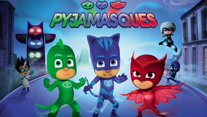 Disney Junior serie Les Pyjamasques