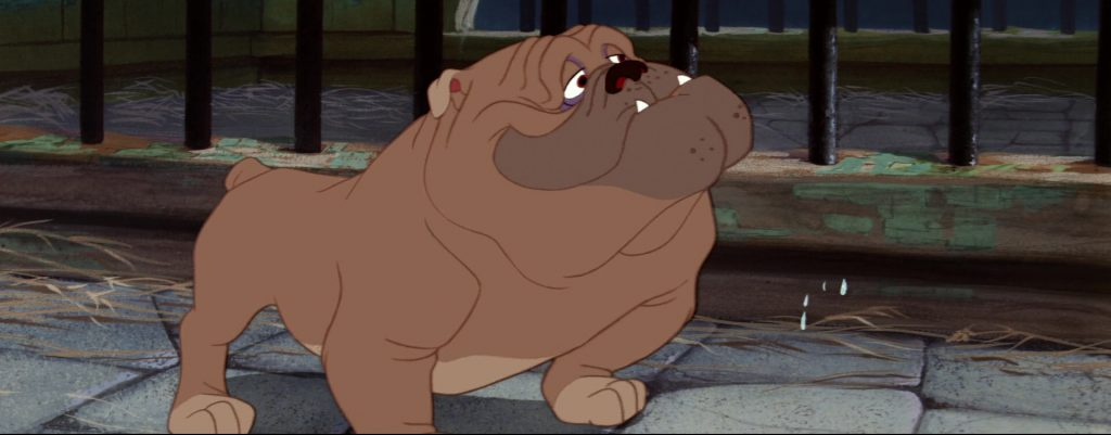 la belle et le clochard lady and the tramp bull chien dog fourrière disney animation personnage character