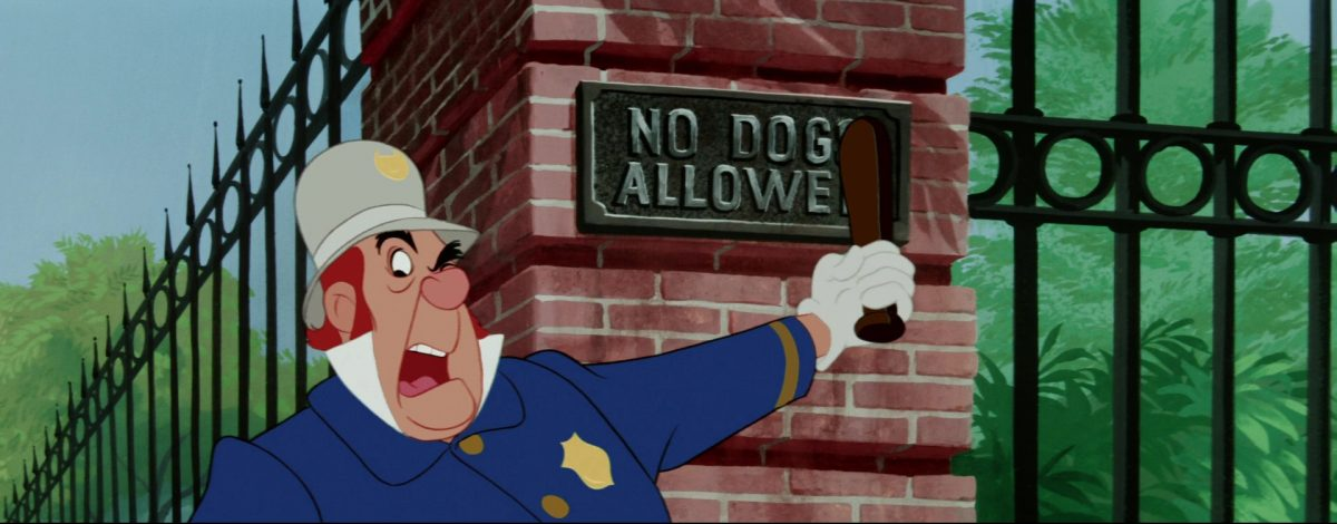 la belle et le clochard lady and the tramp policier policeman disney animation personnage character