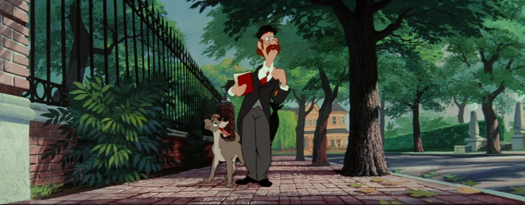 la belle et le clochard lady and the tramp professeur professor disney animation personnage character