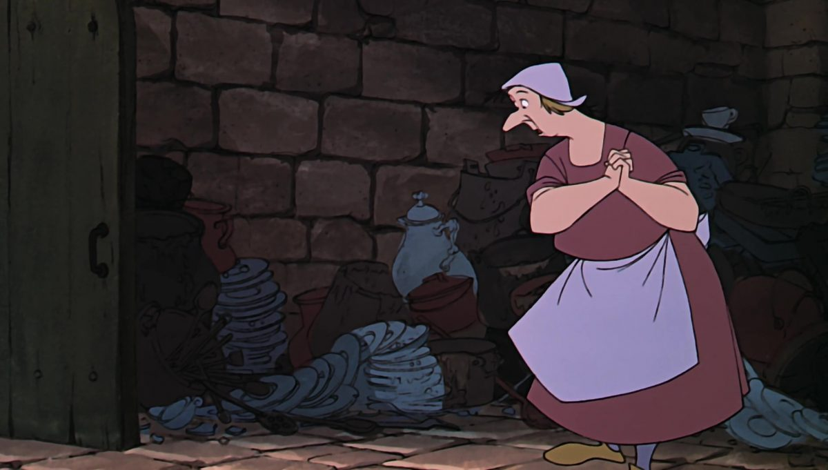cuisiniere Scullery maid disney animation merlin enchanteur sword stone personnage character