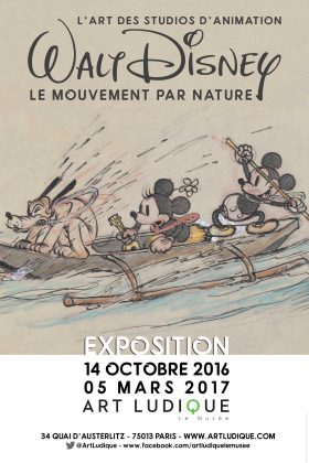 artwork disney exposition art ludique affiche