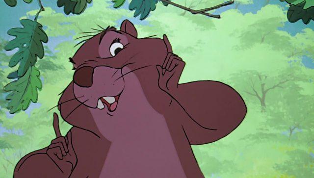 grand-mère granny écureuil squirel girl disney animation merlin enchanteur sword stone personnage character