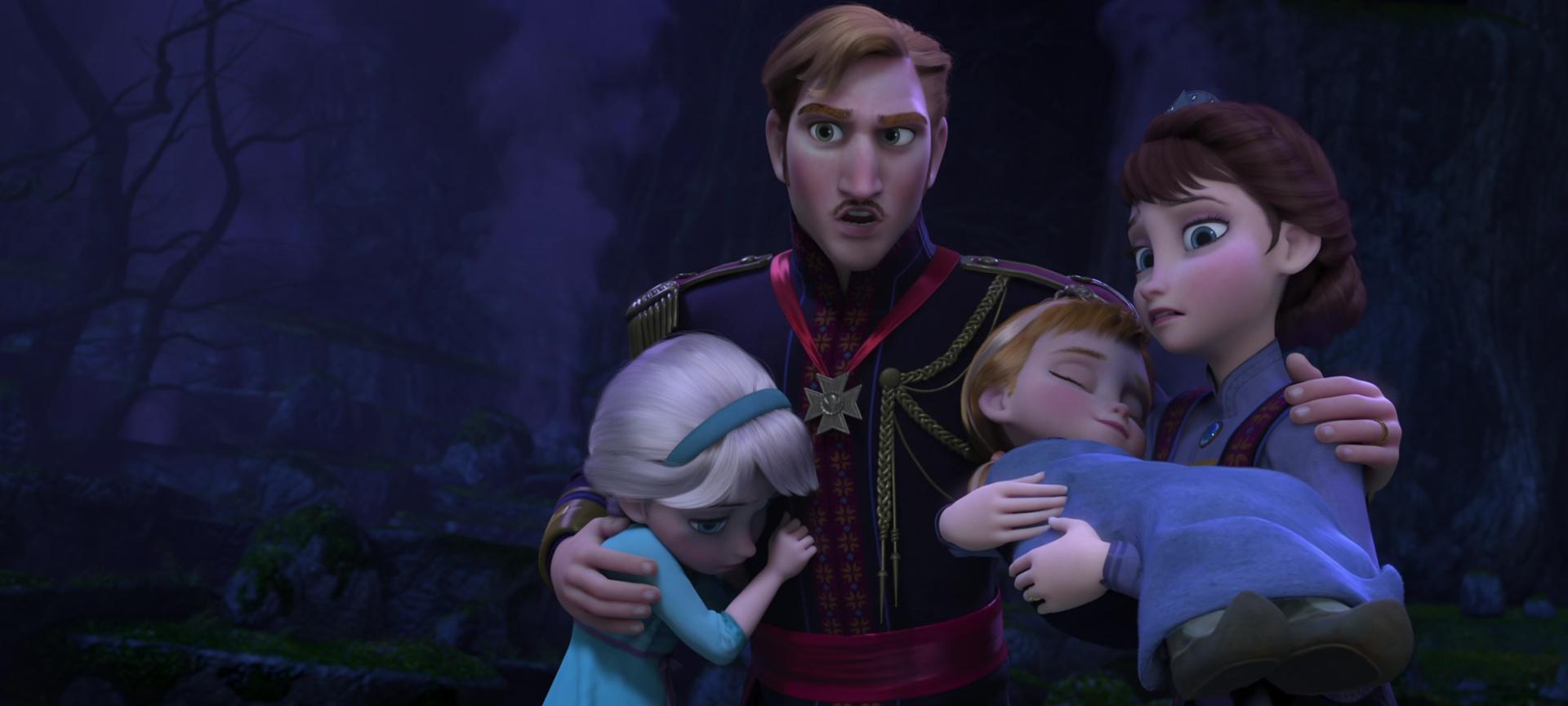 Roi agnarr et reine iduna personnages dans la reine des - Personnages reine des neiges ...