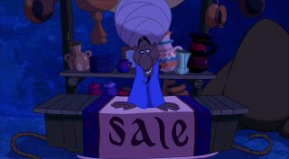 colporteur peddler personnage character aladdin disney animation