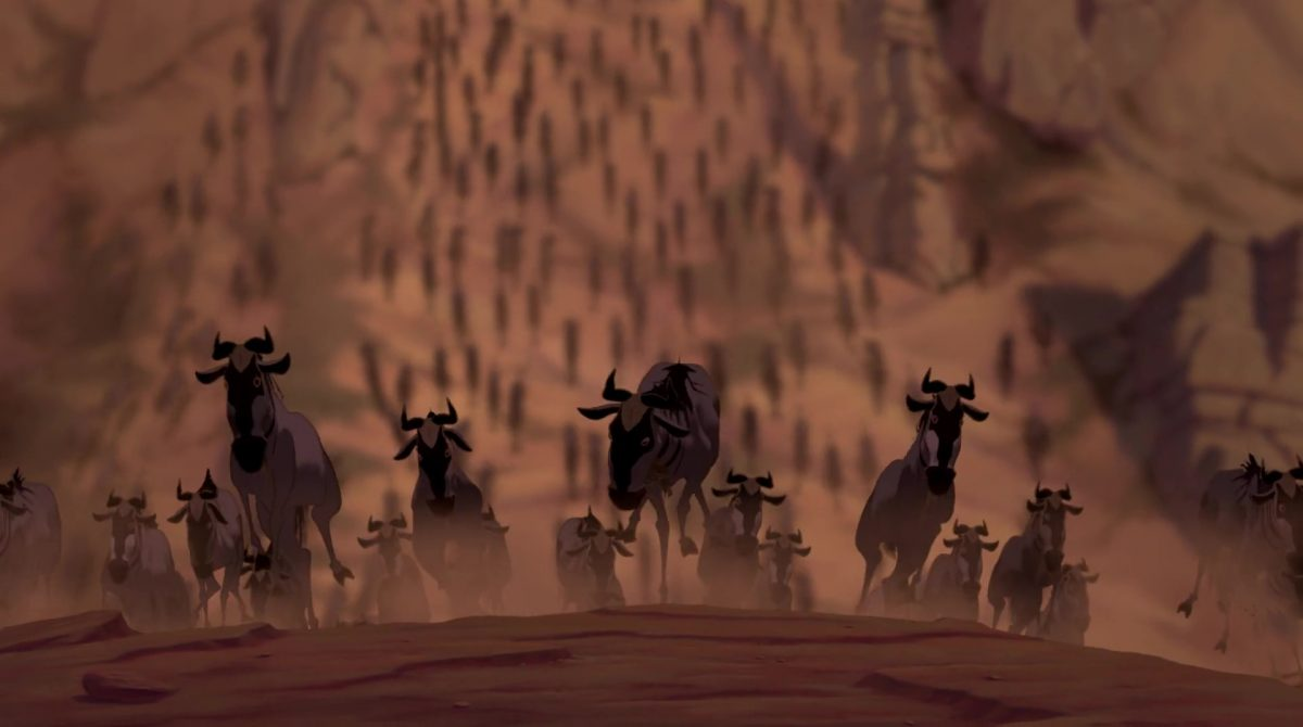 Wildebeests gnous disney animation personnage character roi lion king