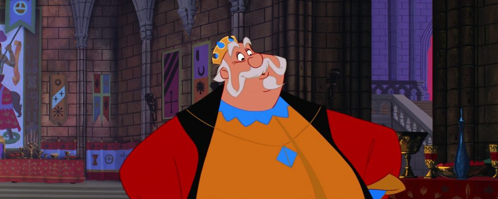 roi hubert king personnage character la belle au bois dormant sleeping beauty disney animation