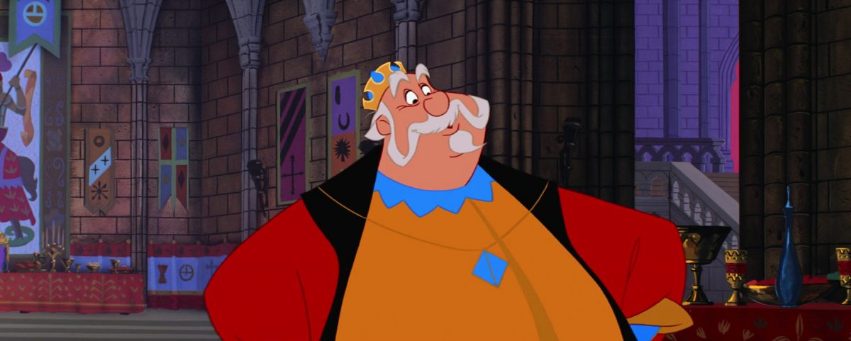 roi hubert king personnage character la belle au bois dormant sleeping beauty disney animation