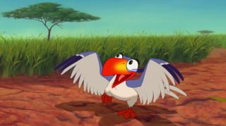 zazu  disney animation personnage character roi lion king