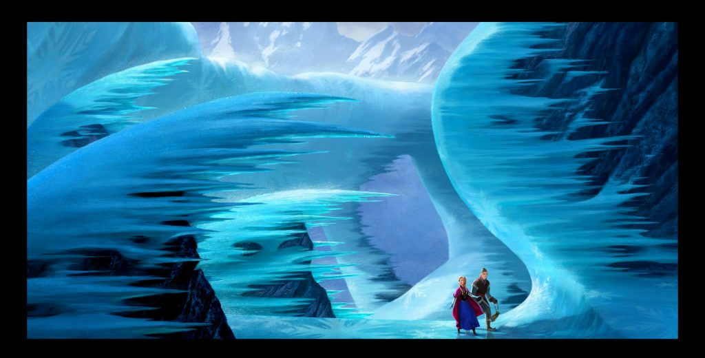 artwork la reine des neiges frozen disney animation