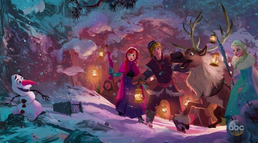 artwork olaf frozen adventure reine neige disney animation
