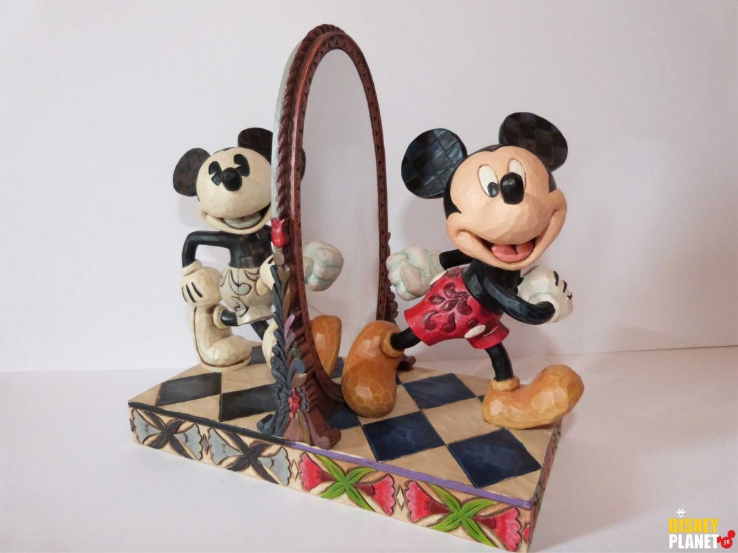 tradition showcase jim shore miroir figurine Mickey 80 Years Of Laughter