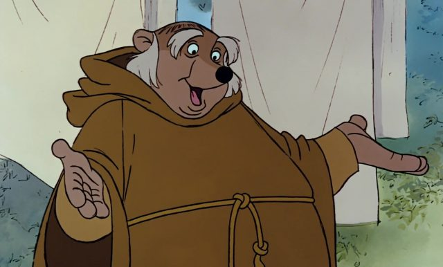 frere tuck friar personnage character disney robin bois hood