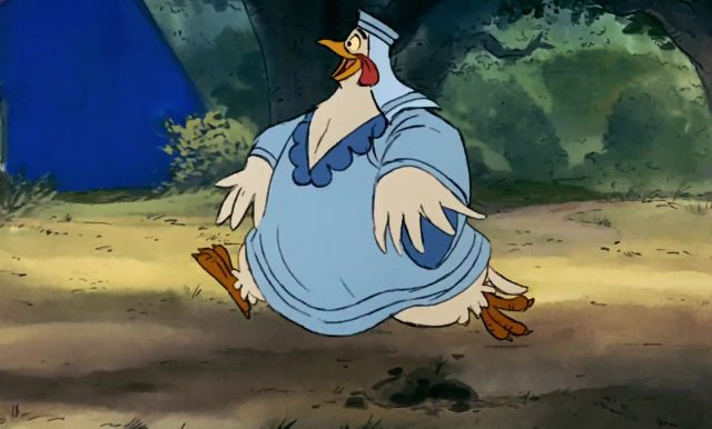 gertrude lady kluck personnage character disney robin bois hood