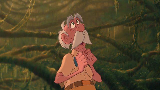 professeur archimedes porter personnage character tarzan disney animation