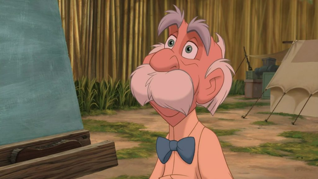 professeur archimedes porter personnage character tarzan disney animation