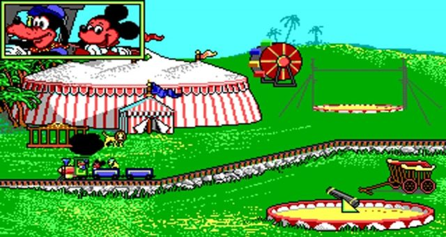 jeu video disney dingo et le train express