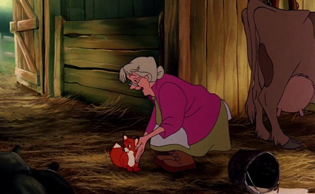 Disney Veuve Tartine personnage Rox et Rouky