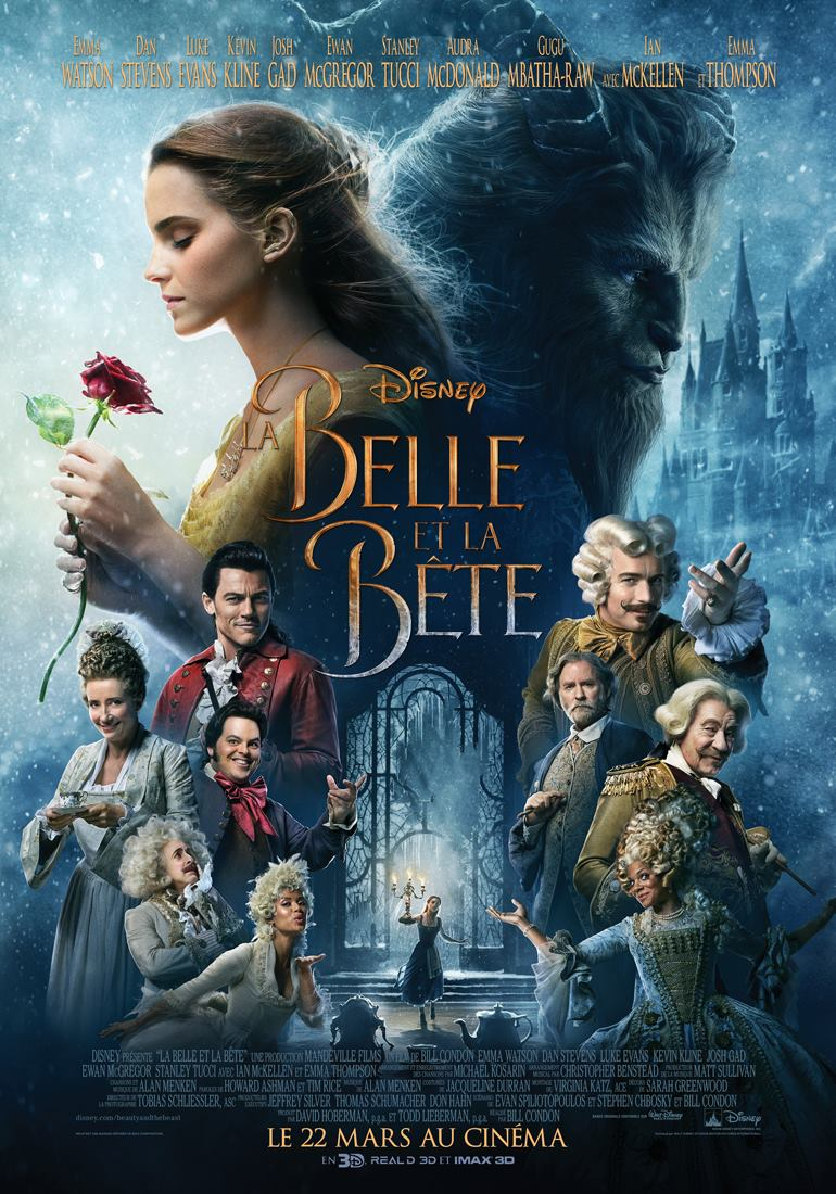 affiche poster belle bête film 2017 beauty beast disney