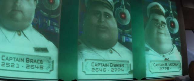 capitaine captain o brien personnage character wall-e disney pixar