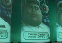 capitaine o'brien pixar disney personnage character wall-e