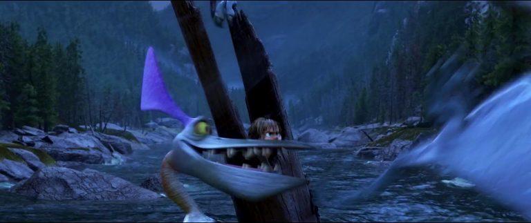 """Frostbite, personnage dans """"Le Voyage d'Arlo""""."""