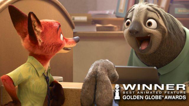 golden globe zootopie disney animation